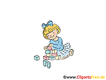 Bausteine Bild, Clipart, Cartoon, Grafik, Comic gratis