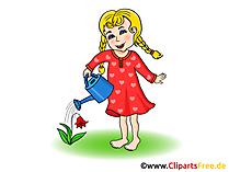 Blumen gießen Kindergarten Bilder kostenlos