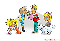 Family Clipart, Bild, Cartoon, Grafik, Illustration