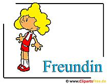 Freundin Bild Clipart free