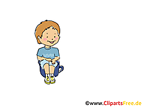 Junge im Kindergarten Bild, Clipart, Cartoon, Grafik, Comic gratis