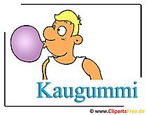 Kaugummi Cartoonbild kostenlos Clipart