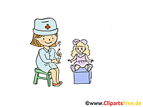 Kinderarzt spielen Bild, Clipart, Cartoon, Grafik, Comic gratis