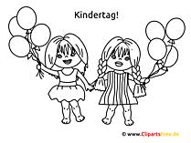 Kindertag Ideen - Basteln mit unseren Ausmalbildern