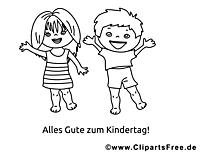 着色のための子供たちと面白い写真