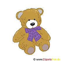 Plusch-Teddy Cartoon, Bild, Illustration, Clip Art