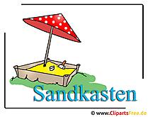 Sandkasten Clipart free - Kindergarten Bilder