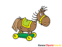 Schaukelpferd Clipart, Illustration, Bild, Grafik gratis