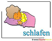 眠っているクリップアート無料の保育園