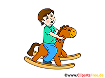 Schwingpferd Spielzeug - Kindergarten Bilder, Cliparts, Grafiken