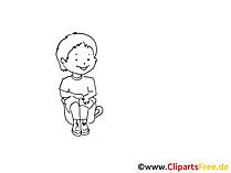 Toepfchen Zeichnung, Bild schwarz-weiss, Clipart, Comic, Cartoon kostenlos