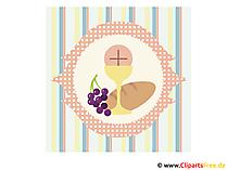 Karta komunii Święto Dziękczynienia, obraz, grafika, clipart