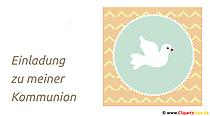 Einladung zu meiner Kommunion Einladungskarte