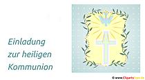 Einladung zur heiligen Kommunion