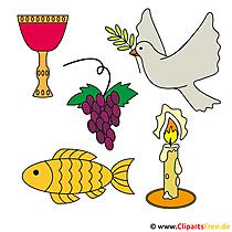無料のクリップアートで聖体拝領のカスタム招待状を作る