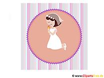 Erstkommunion Glückwunschkarte, Bild, Clipart