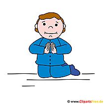 Gebet Clipart-Bild - Karten zur Kommunion selbst gestalten