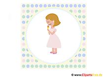 Glückwunsch zur Kommunion - Clip Art, Bild, Karte