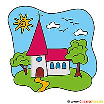 Obraz Church Clipart - Dostosuj zaproszenia do komunii