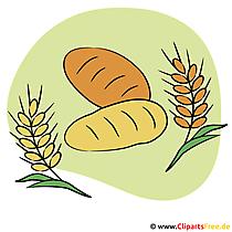 Obrazy komunijne za darmo - chleb i płatki zbożowe