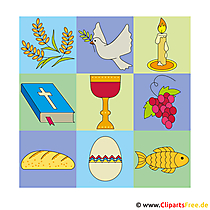 Kommunion Bilder kostenlos - Clipart zum Basteln