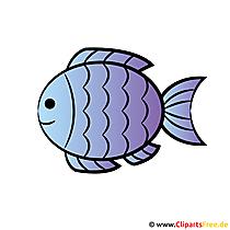 Kommunion Einladungskarten mit Cliparts gestalten - Fisch Cartoon