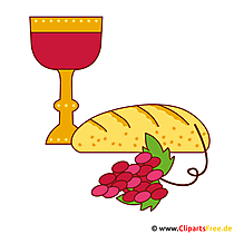 Wine and Bread Illustration - Communion afbeeldingen gratis