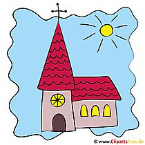 Kerkfoto, illustratie, clip art