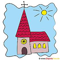 Kirche Bild, Illustration, Clipart