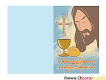 Postkarte zur-Konfirmation kostenlos ausdrucken