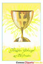 Symbole Konfirmation Grusskarte