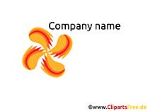 無料で会社のロゴ