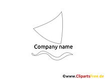 ロゴ要素の帆