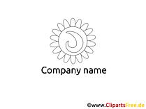 黒と白のロゴのテンプレート
