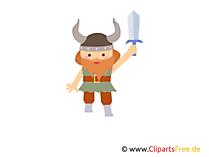 Clipart Vikingler ücretsiz kılıçla
