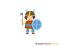 Ücretsiz Viking kask clipart
