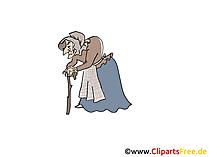 Hexe aus Schneewittchen Märchen-Bild, Clipart, Illustration