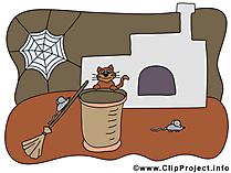 Cadı evi resim - illüstrasyon