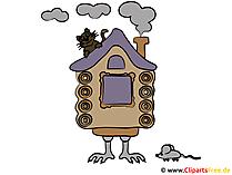 Cadı evi resim clipart