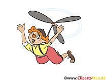 Karlsson vom Dach Clipart, Bild, Illustration