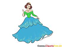 Prensesler resimleri, küçük resim, baskı için grafik