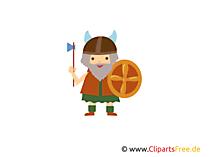 Ücretsiz balta ve kalkan clipart ile Vikingler
