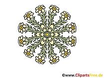 花 - 花の花輪画像クリップアートとマンダラ