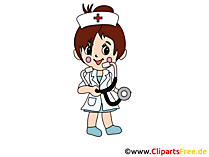 Anime Krankenschwester Illustration, Clipart, Grafik