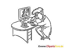 Arbeit im Medizinlabor Clipart, Zeichnung, Bild