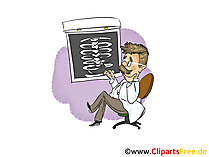 Arzt Bild, Cartoon, Grafik, Clipart