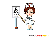 眼科医のイメージ、漫画、クリップアート