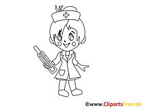 Bild Schwarz Weiss Krankenschwester