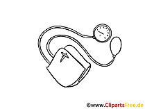 Blutdruck messen Clipart, Zeichnung, Bild, Grafik