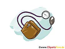 Blutdruckmessgerät Clipart, Bild, Cartoon free